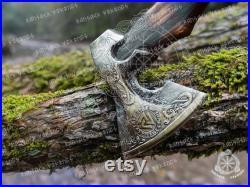 Viking axe ,Hatchet, Viking Hatchet, Viking Beared axe ,Battle axe, Birch wood, Hand Forge Axe ,Handmade Luxury Gift For Men