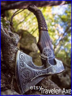Viking axe ,Hatchet, Viking Hatchet, Viking Beared axe ,Battle axe, Birch wood, Hand Forge Axe ,High Carbon, Handmade Luxury Gift For Men