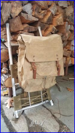 Vintage 1960's Boy Scouts of America National Council Hiking Backpack on External Aluminum Frame 574 Yucca Pack