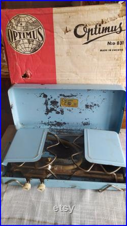 Vintage Swedish Portable Liquefied Gas Camping Stove Optimus 831 in working condition