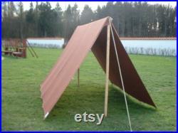 dark brown tarp 3 3 m with loops waterproof Ourdoor and Camping